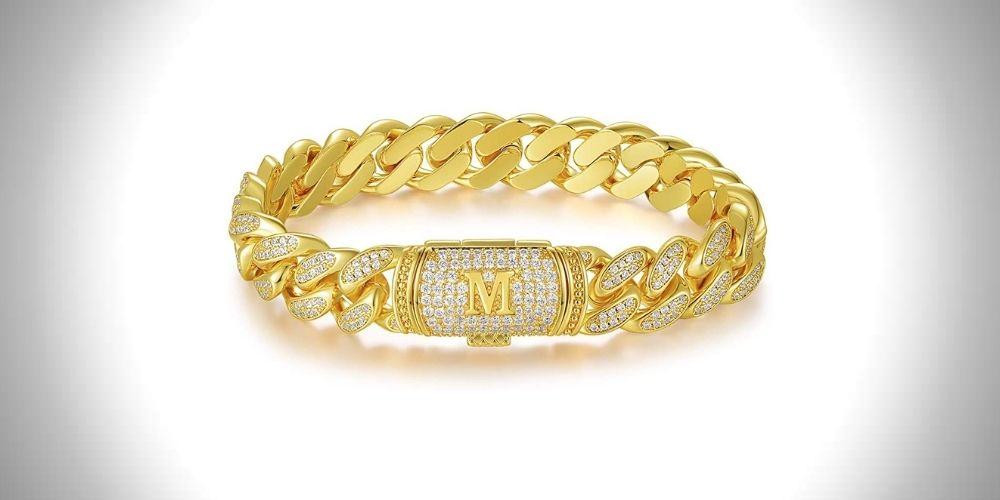 ETEVON Bracelets for Men Cuban Link Chain