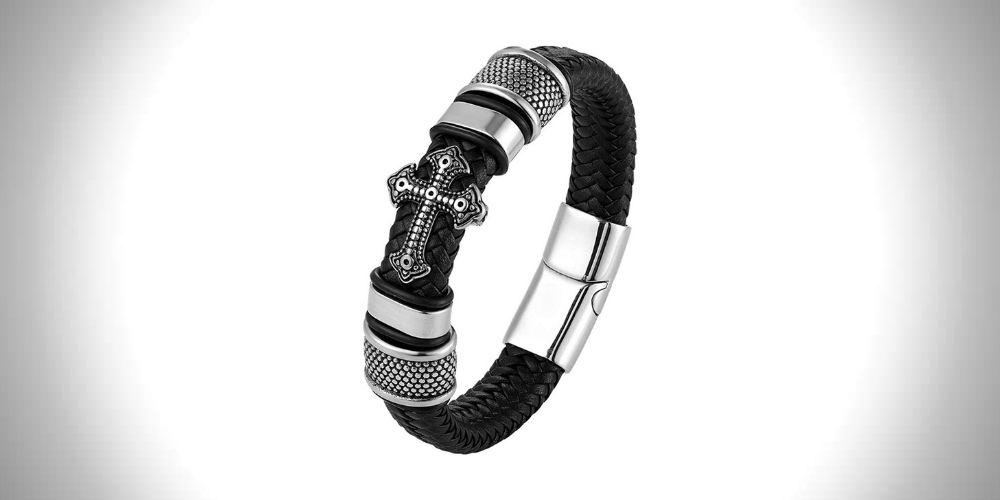 Helloice Leather Braid Bracelets for men