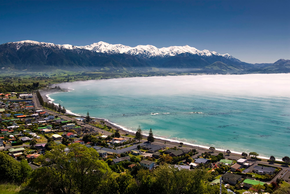 Kaikoura township, New Zealand