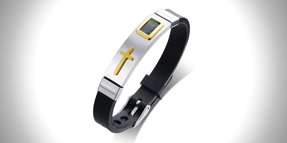 MP Rainbow Men's Silicone Adjustable Bracelet