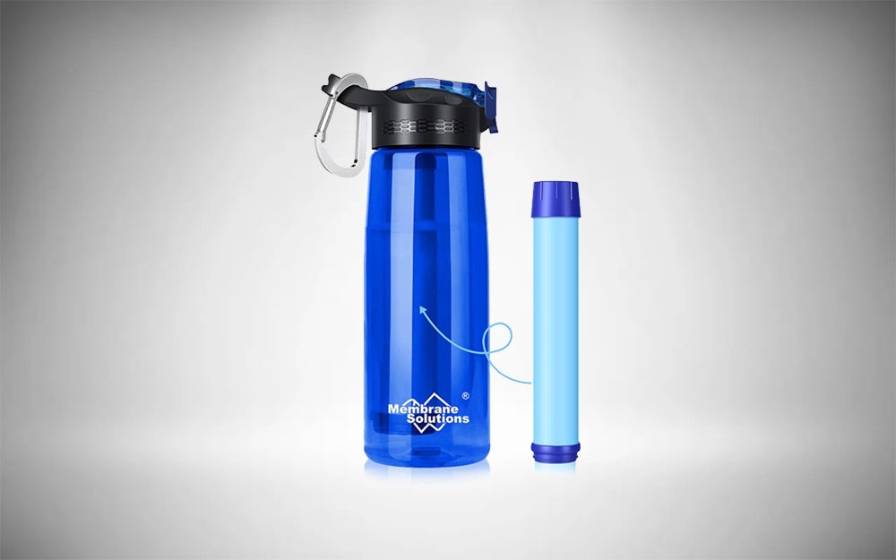 The durable Membrane Solutions bottle with filter