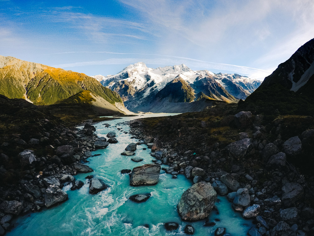 Mount Cook looking beautiful just after sunrise