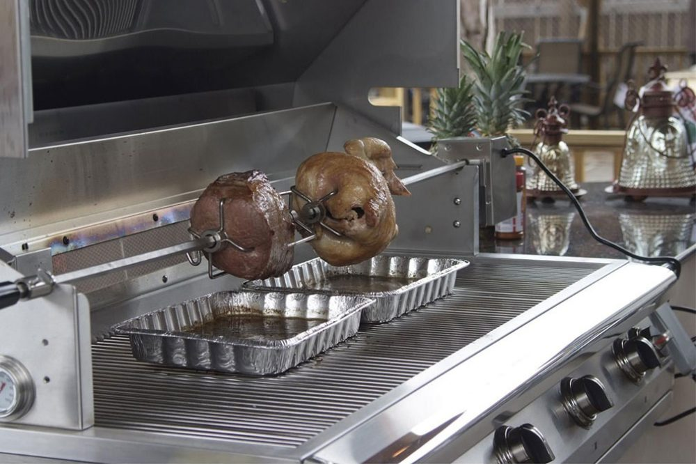 PGS Legacy Pacifica Gourmet Built-In Propane Gas Grill With Rotisserie