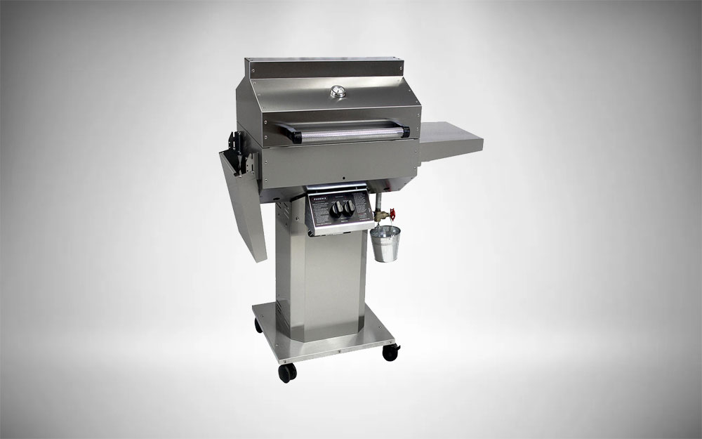Phoenix Grill SD Propane Grill on Stainless Steel Pedestal Cart