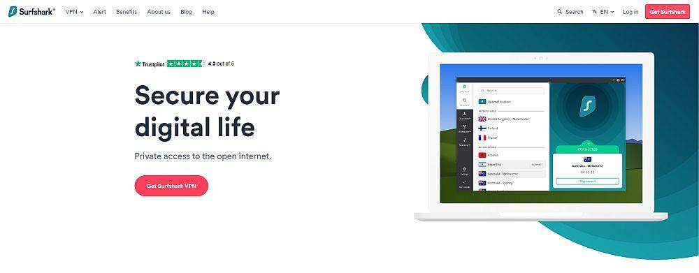 Surfshark - best VPN