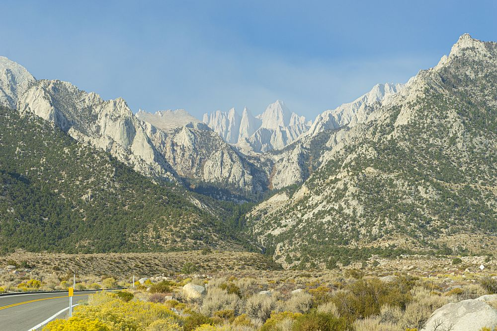 The road to Mt Whitney