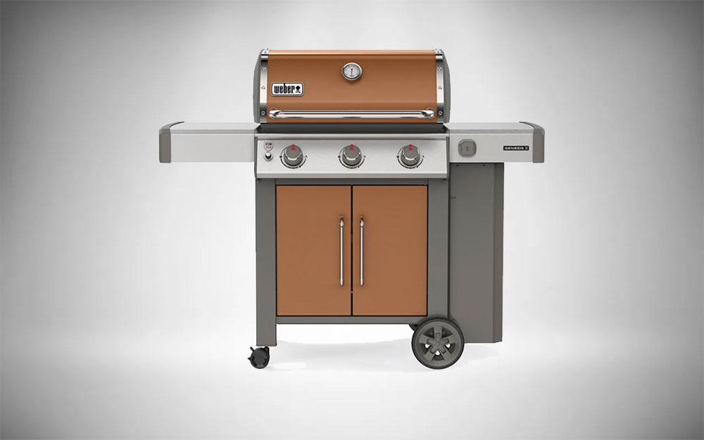 The Weber Genesis II E-315 in copper color