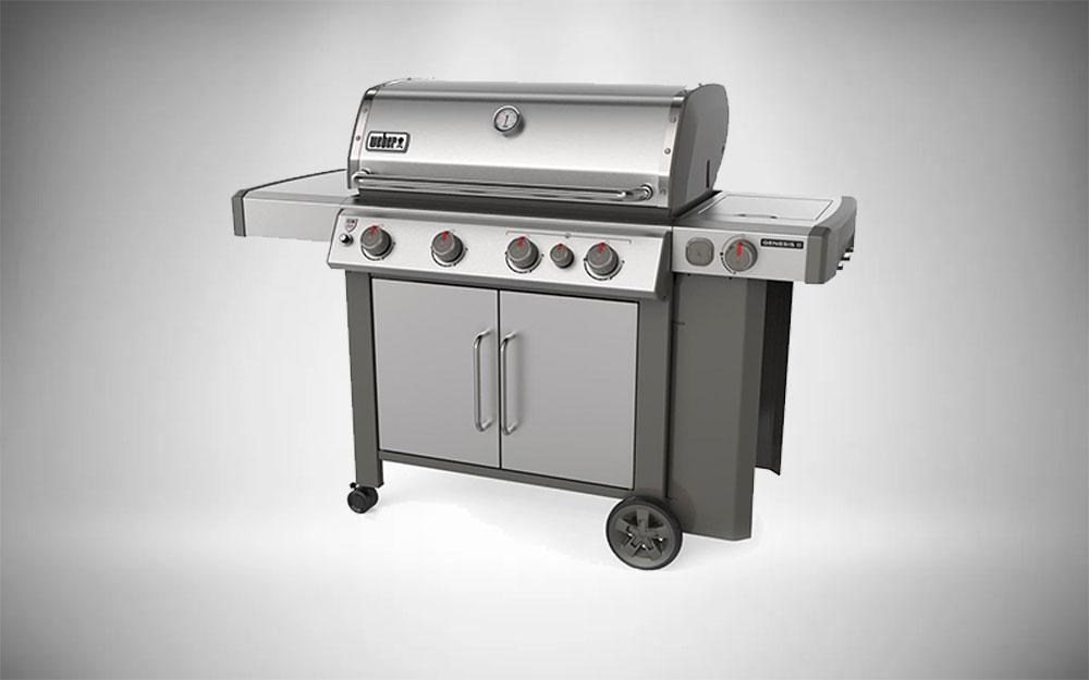 The Weber Genesis II S-435 stainless steel model
