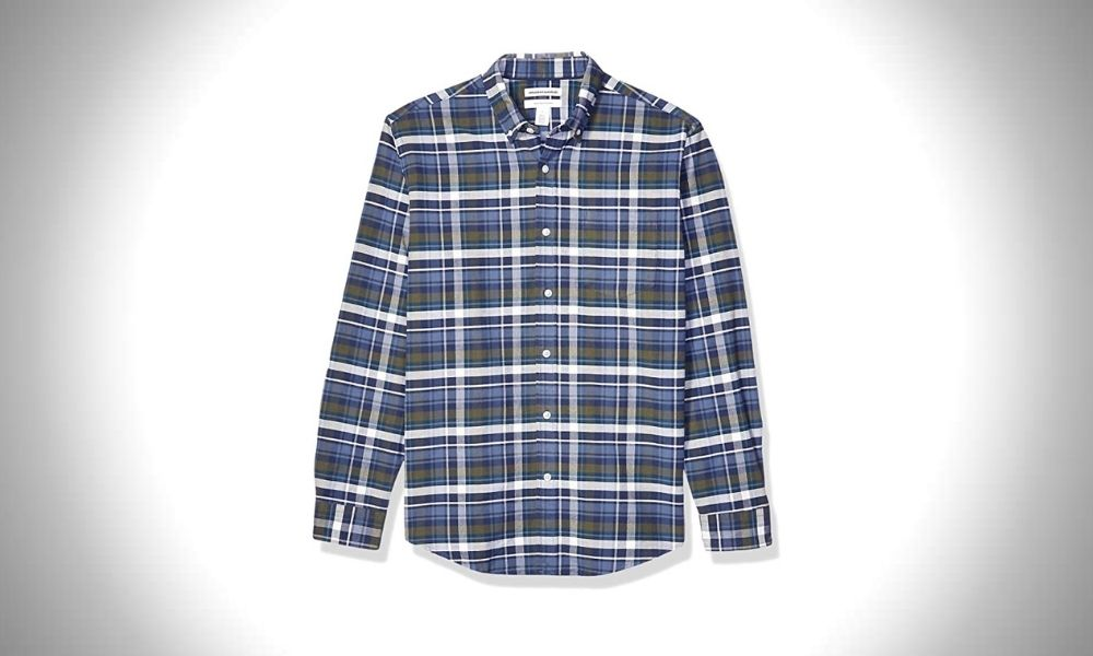 Amazon Essentials Long-Sleeve Pocket Oxford Button Down