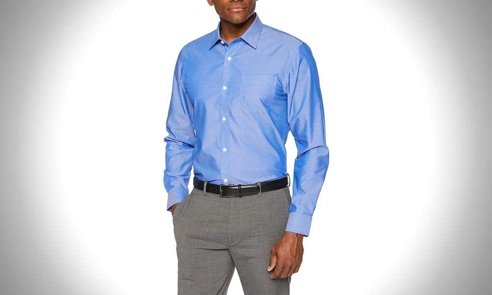 Amazon Essentials Men's Slim-Fit Dress Shirt