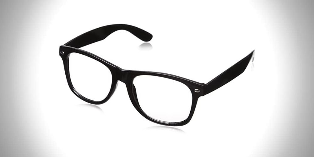 CLEAR LENS 80's Style Vintage Sunglasses