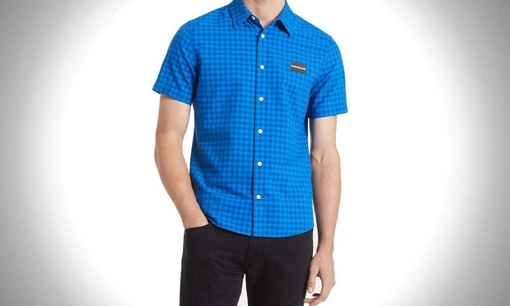 Calvin Klein Short Sleeve Oxford Cloth Shirts