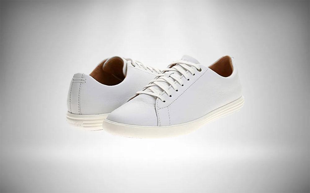 Minimalist Staple Cole Haan Crosscourt II White Sneakers