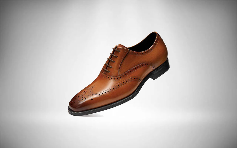 FRASOICUS Genuine Leather Brogue Dress Shoes Essential Shoes for Men's Style