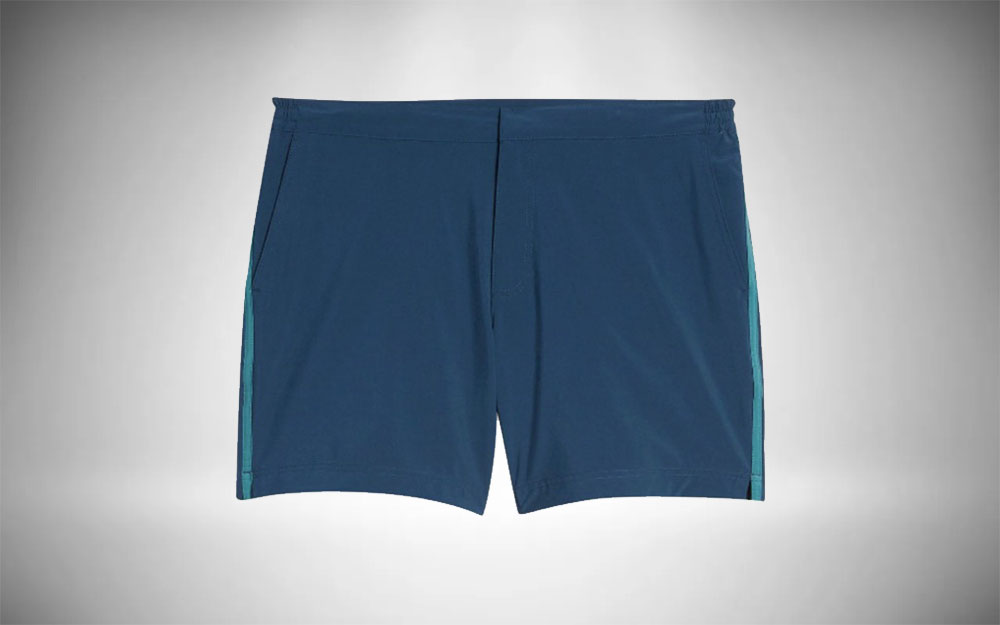 Fair Harbor - Sextant Side Stripe in blue with teal stripe