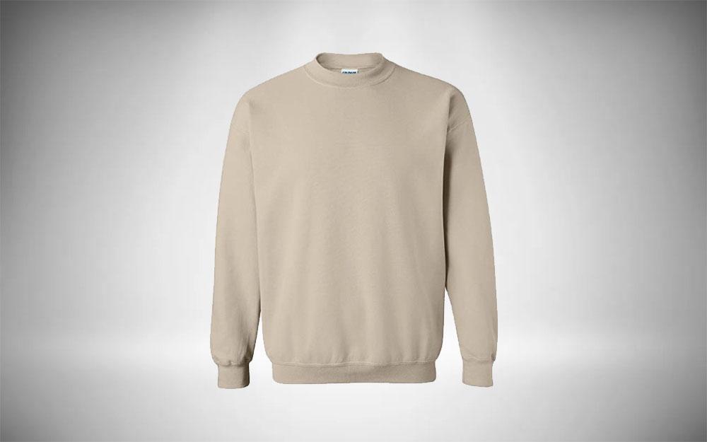 Gildan Fleece Crewneck Minimalist Sweater