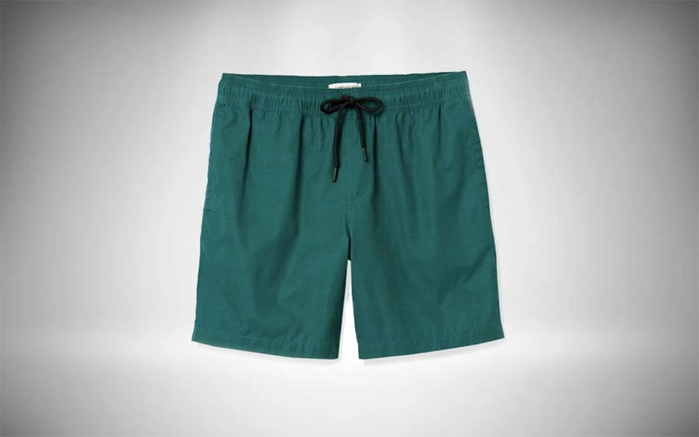 "Goodthreads - Men's 7"" Inseam Swim Trunk in green"