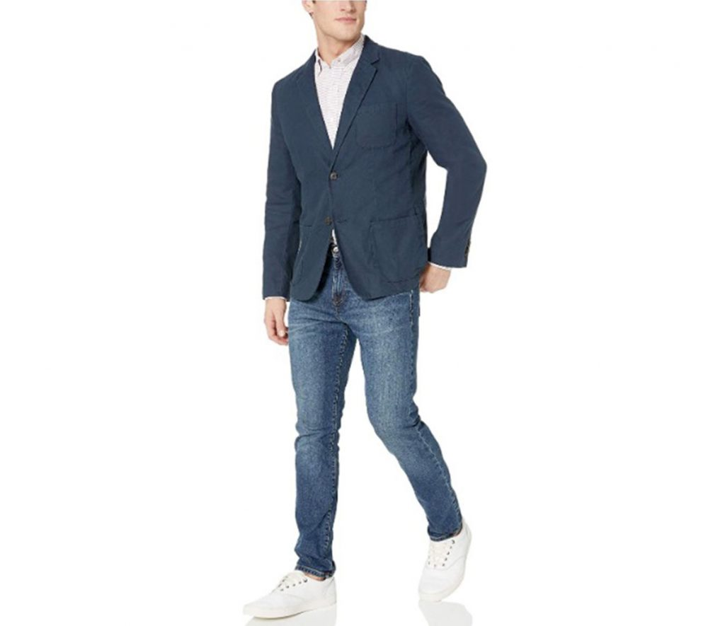 Goodthreads Slim-Fit Linen Blazer Semi-Casual Minimalist Staple