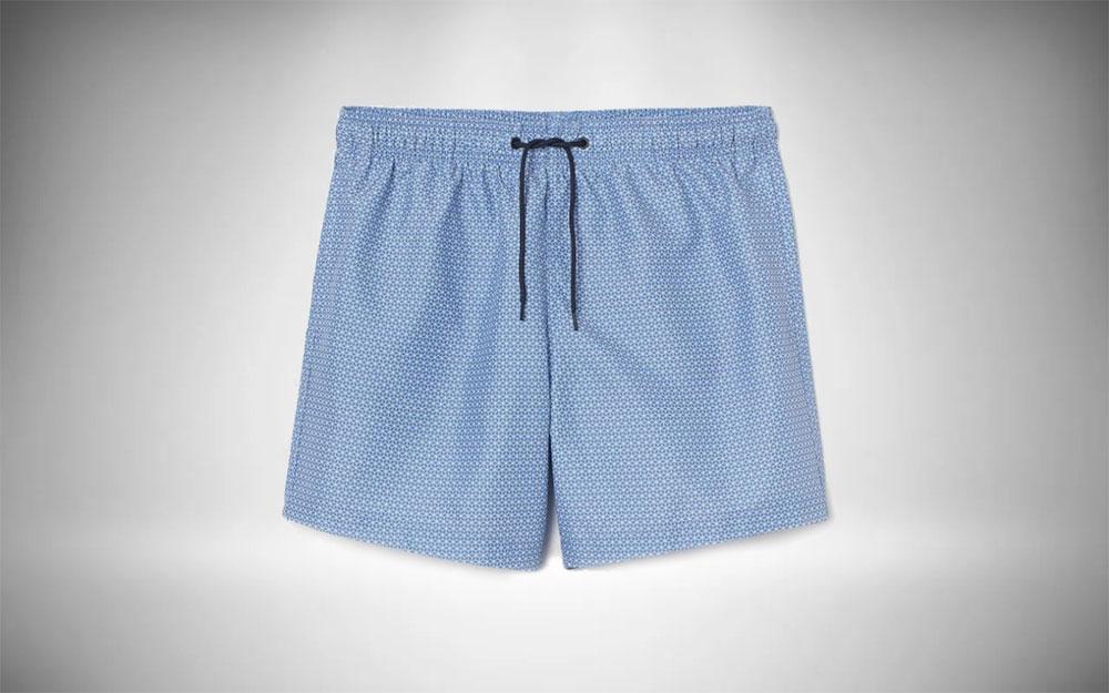 H&M - Patterned Swim Shorts in light blue pattern