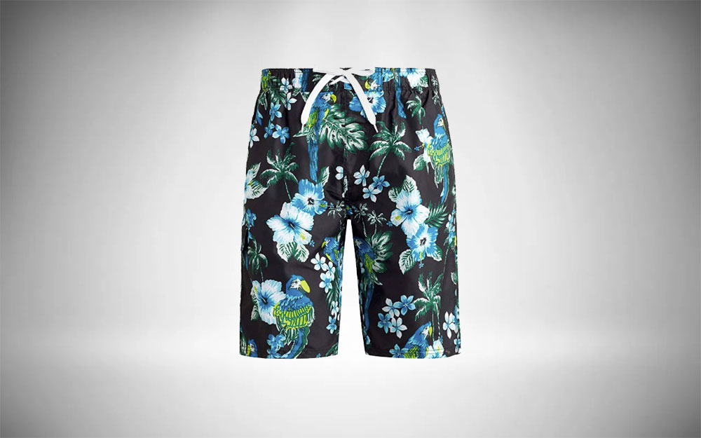 Kanu Surf - Barracuda in tropical black and blue floral pattern
