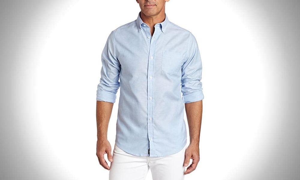 Lee Uniforms Men's Long Sleeve Oxford Dress Shirt