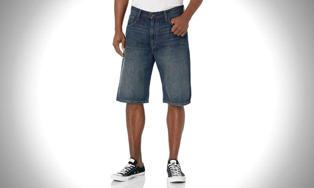 best mens shorts brands Levi's Men's 569 Loose Straight Denim Shorts