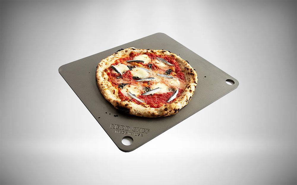 NerdChef | Steel Pizza Stone for Grills & BBQs