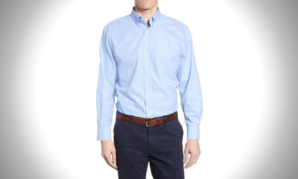 Nordstrom Men's Smartcare Pinpoint Dress Shirt