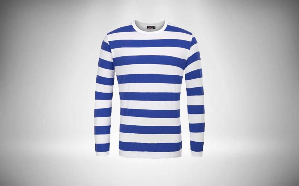 PJ PAUL JONES Striped Crew Neck Minimalist Style Wardrobe