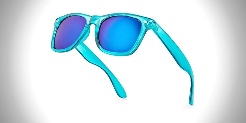 Retro Rewind Colorful Neon 80s Mirror Sunglasses