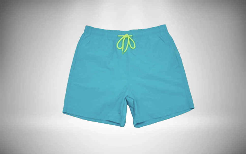 SILKWORLD - Beach Shorts with Pockets in teal