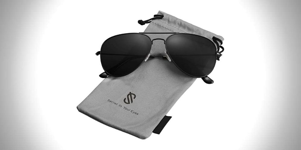 SOJOS Polarized 80s Aviator Sunglasses