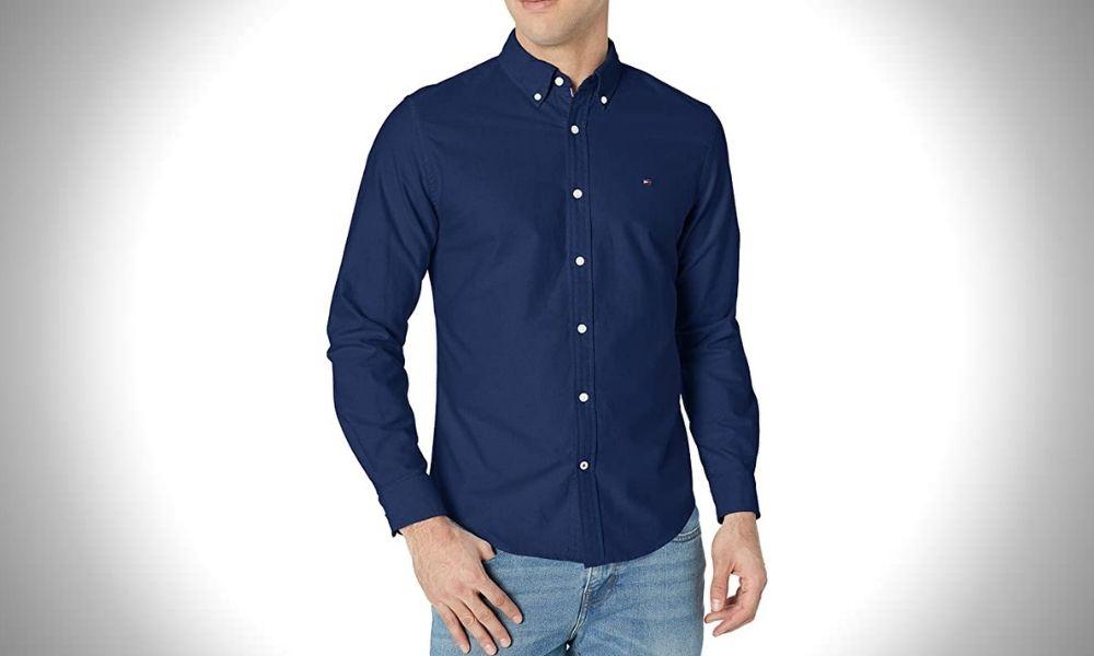 Tommy Hilfiger Long Sleeve Button Down Oxford Shirt Men