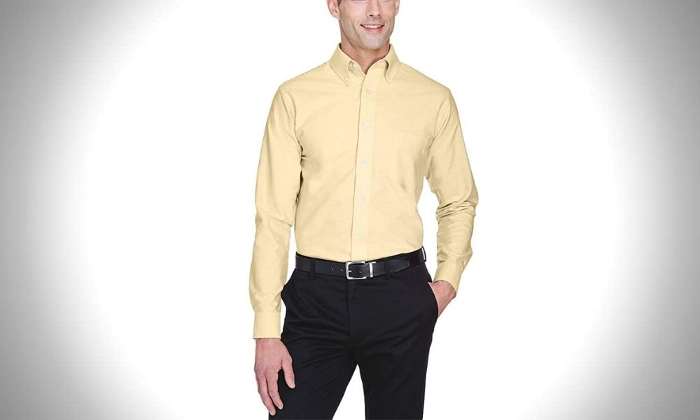 UltraClub Men's Wrinkle-Free Oxford Dress Shirt