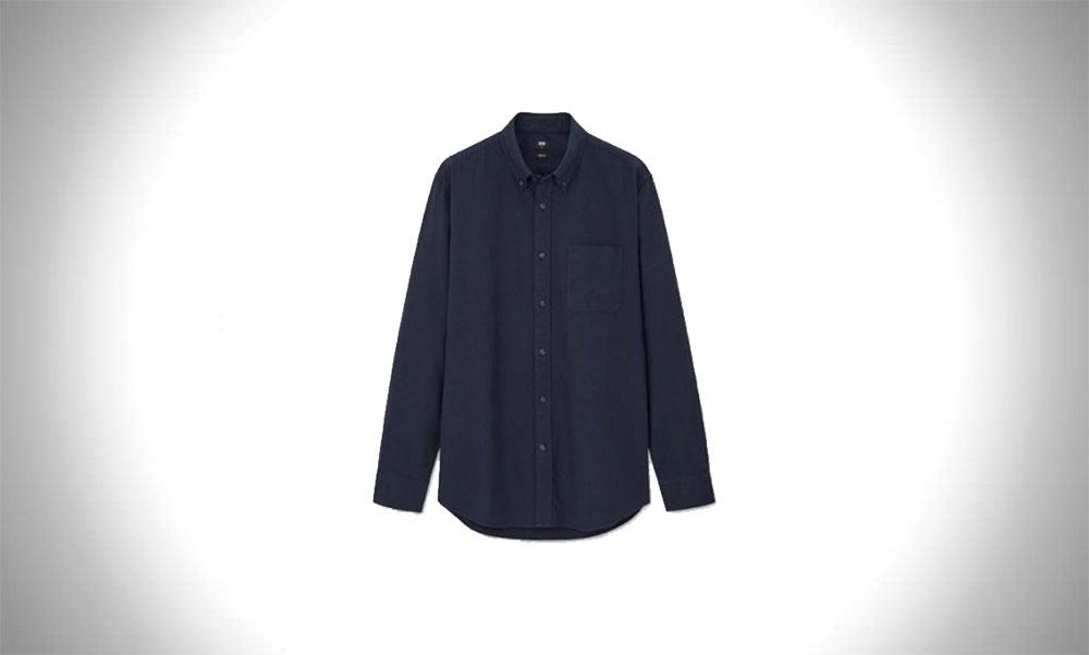 Uniqlo Long-Sleeve Oxford Style Shirt