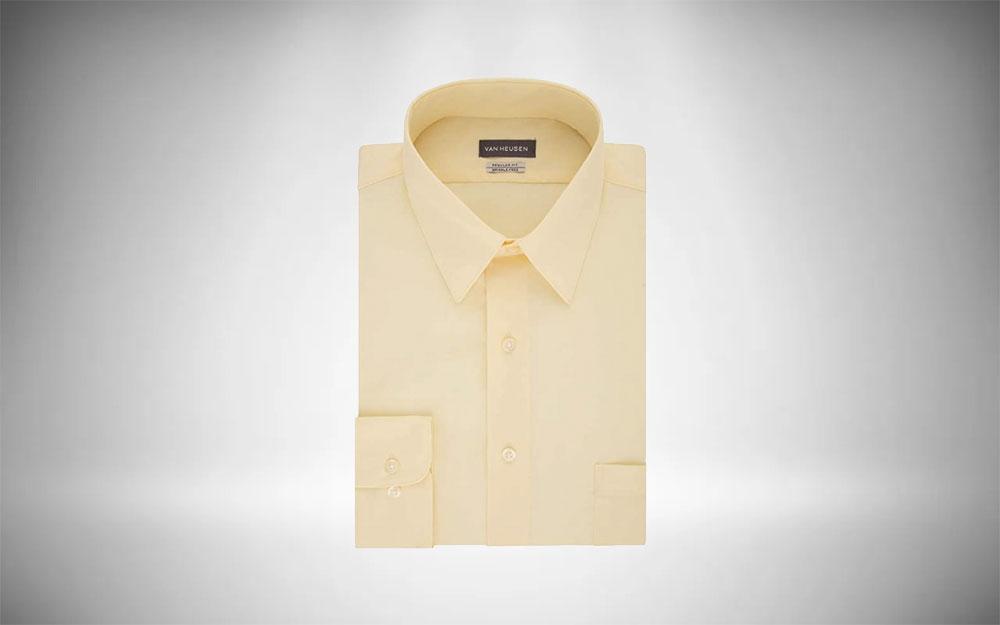 Van Heusen Poplin Dress Shirt Minimalist Staple
