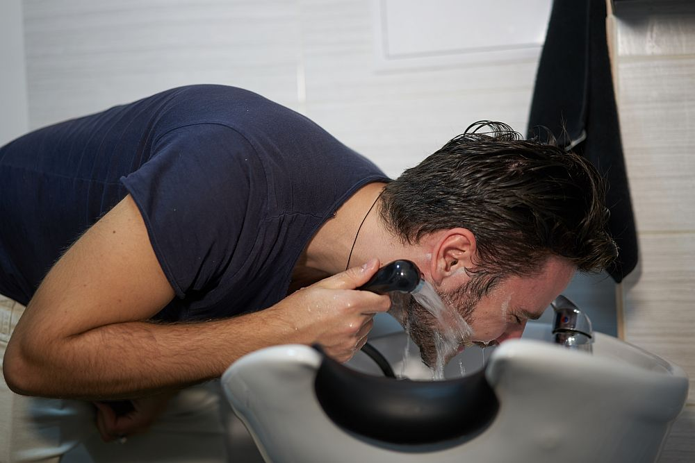 Wash the Extra Dye off Your Beard