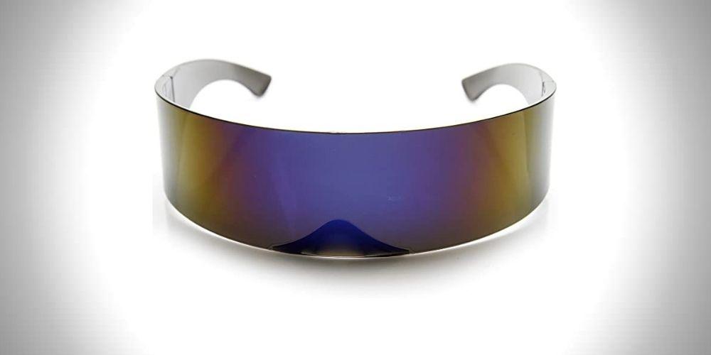 zeroUV Cyclops Wraparound Shades Futuristic 80s Sunglasses