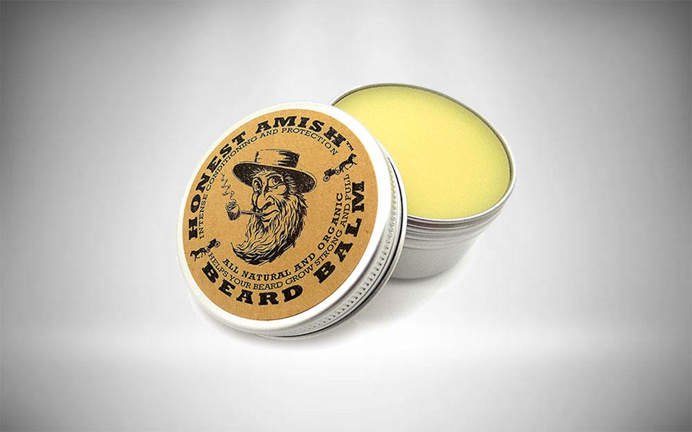 Beard balm to sooth irritated skin under beard