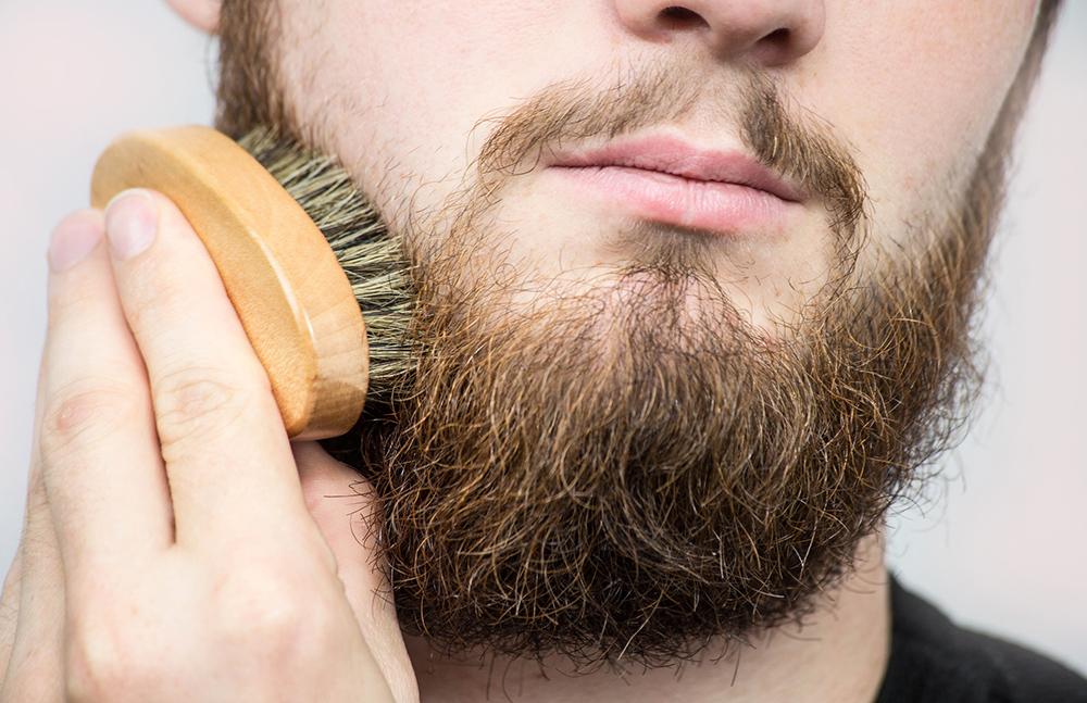 Beard dandruff remedy - Brushing beard