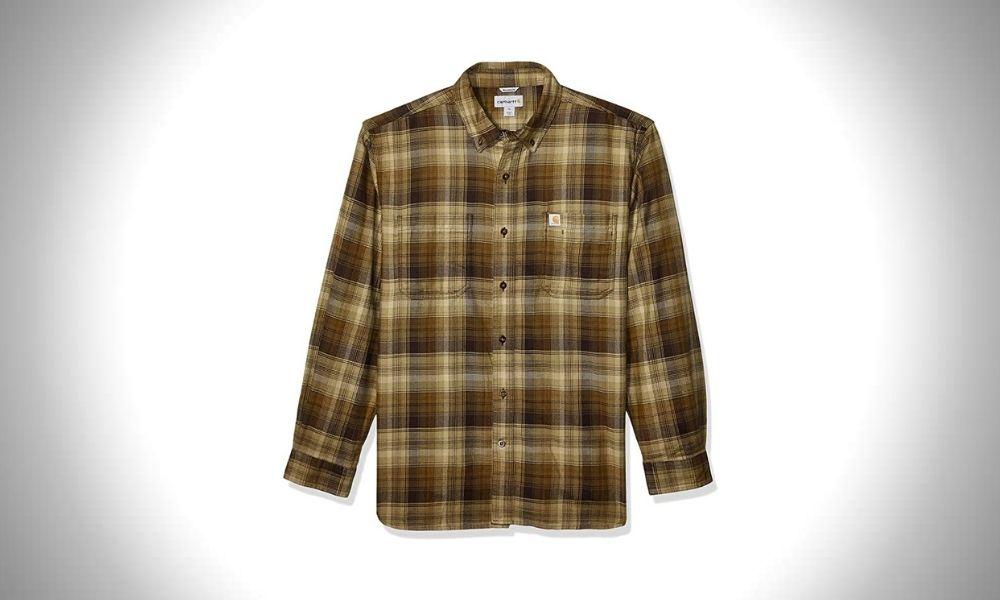 Carhartt Men's Rugged Flex Hamilton Plaid Flannel Shirt