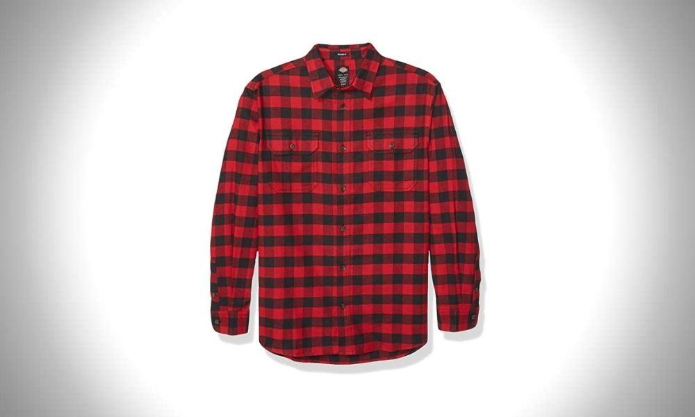 Dickies Men's Long Sleeve Flex Flannel Shirt