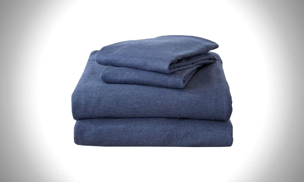 Great Bay Home Flannel Jersey Knit Bed Sheets for Men