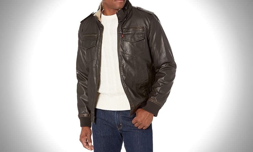 Levi's Faux Leather Sherpa Jacket