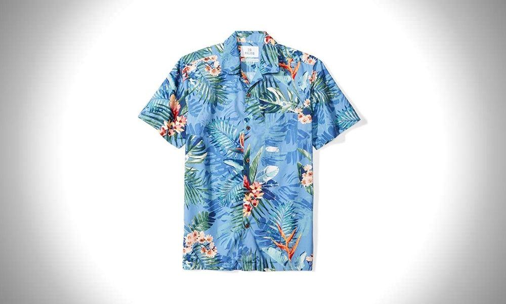 28 Palms Men's Cotton Hawaiian Shirts
