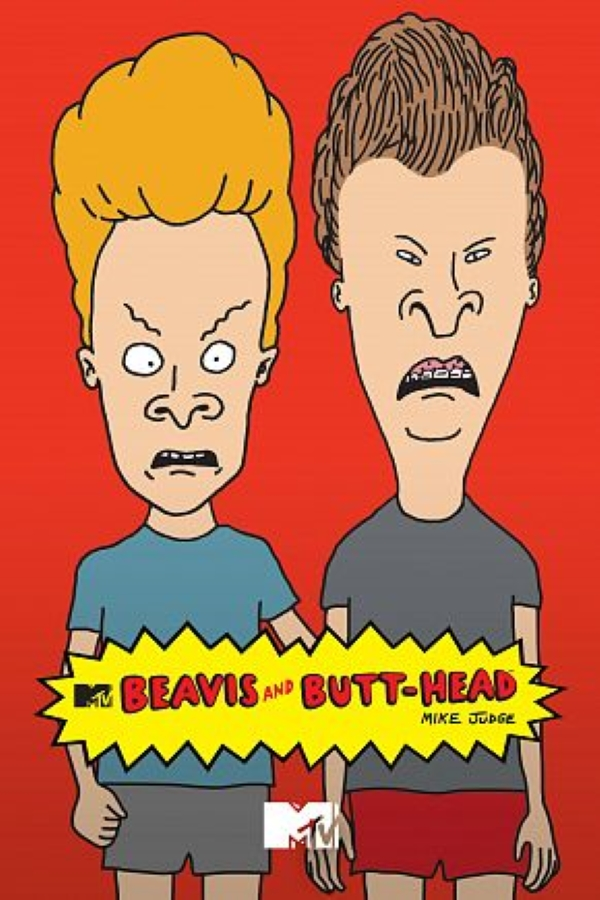 90s cartoon characters Beavis & Butthead