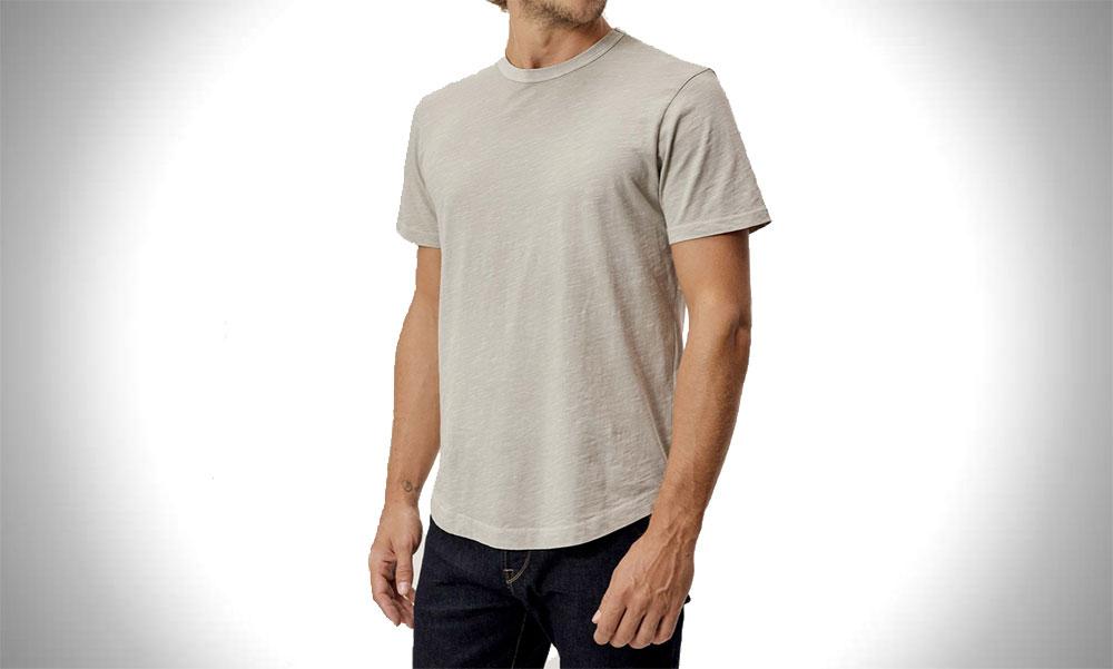 Buck Mason | Slub Mens Curved Hem T-Shirt