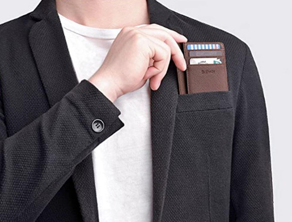 Buffway Slim Leather Card Holder