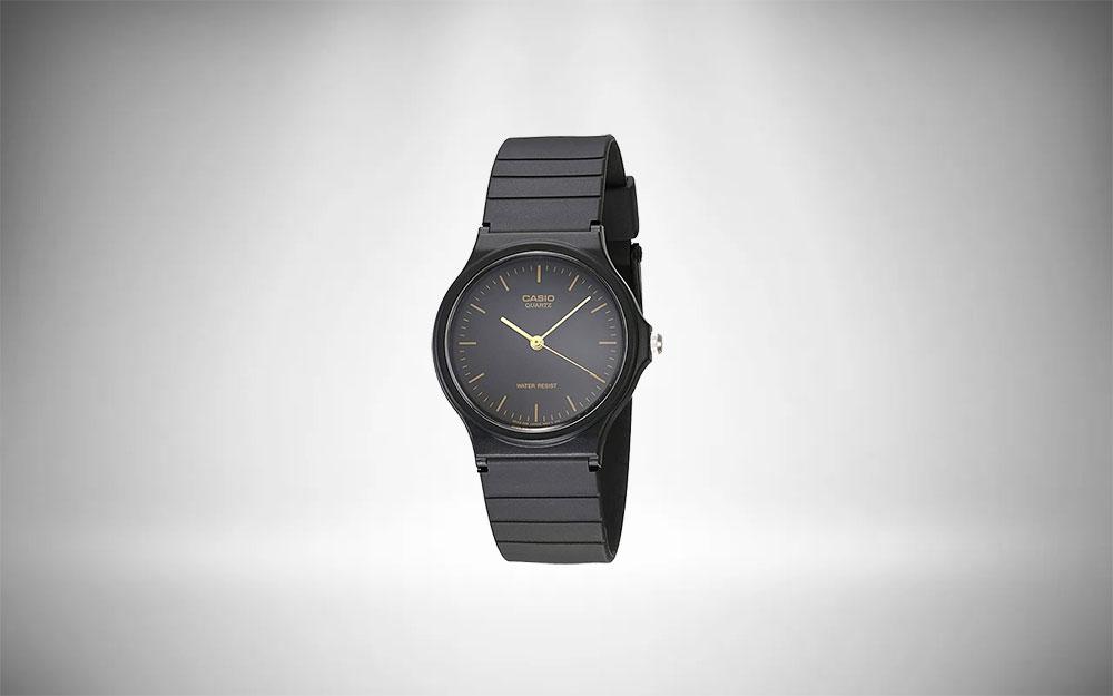 Casio Wrist Watch   MQ24-1E Black Resin