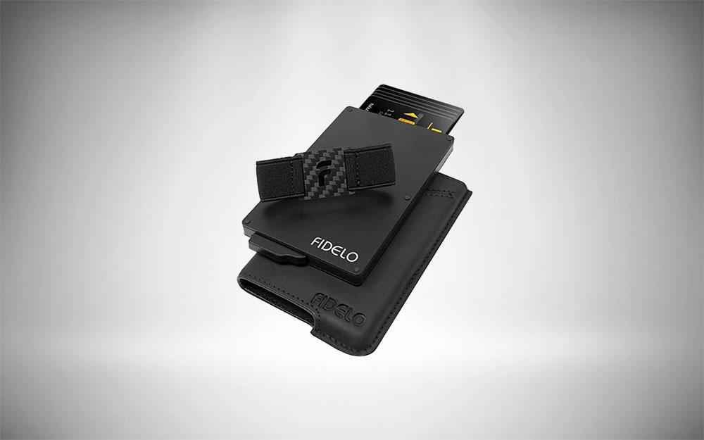 Fidelo Minimalist Leather Card Holder Wallet